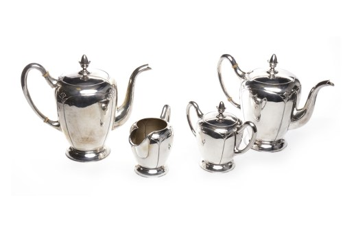 Lot 543-CHINESE SILVER FOUR PIECE TEA SERVICE comprising...