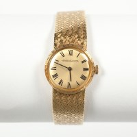 Lot 1613 - LADY'S EIGHTEEN CARAT GOLD JAEGER LE COULTRE...