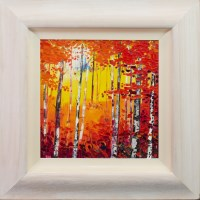 Lot 1-* DANIEL CAMPBELL, SUNKISSED TREES oil on canvas, ...