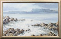 Lot 4-* GAVIN FITZSIMONS (IRISH), FAIRHEAD oil on board,...
