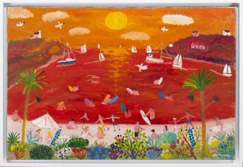 Lot 32-* ALAN FURNEAUX, EVENING GLOW oil on canvas,...