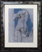 Lot 36-* PETER HOWSON OBE, BOSNIAN WAR STUDY pastel on...