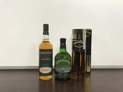 Lot 10-TOMINTOUL-GLENLIVET 12 YEARS OLD Active....