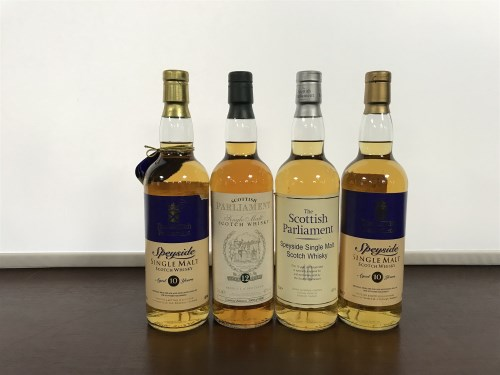 Lot 13-THE SCOTTISH PARLIMENT AGED 10 YEARS (3) Speyside ...