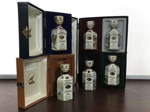 Lot 19-SIX GORDON HIGHLANDER 10CL POINTERS DECANTERS...