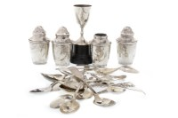 Lot 810-SET OF SIX GEORGE V SILVER APOSTLE TEASPOONS...