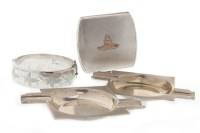 Lot 832-PAIR OF ART DECO SILVER ASHTRAYS maker Turner &...