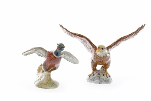Lot 1228 - BESWICK FIGURE OF A BALD EAGLE numbered 1018,...