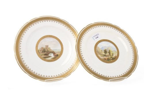 Lot 1246 - PAIR OF VICTORIAN MINTON CABINET PLATES each...