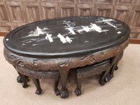 Lot 1003-EARLY/MID 20TH CENTURY CHINESE COFFEE TABLE of...