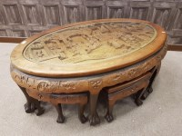 Lot 1004-MID 20TH CENTURY CHINESE CARVED WOOD COFFEE TABLE ...