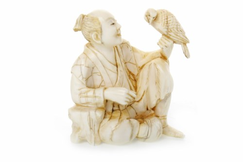 Lot 1008-19TH CENTURY JAPANESE IVORY OKIMONO carved with a ...