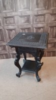 Lot 1041 - 20TH CENTURY ANGLO-INDIAN CARVED WOODEN TABLE...