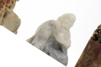 Lot 1049-THREE 20TH CENTURY CHINESE SOAPSTONE CARVINGS...