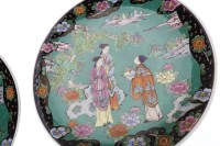 Lot 1054-PAIR OF MID 20TH CENTURY JAPANESE FAMILLE NOIRE...