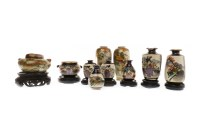Lot 1056-COLLECTION OF 20TH CENTURY JAPANESE SATSUMA VASES ...