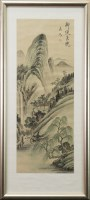 Lot 1075 - THREE MID 20TH CENTURY CHINESE WATERCOLOURS...