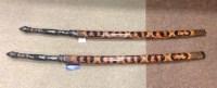 Lot 1126 - PAIR OF 20TH CENTURY BURMESE CEREMONIAL SWORDS...