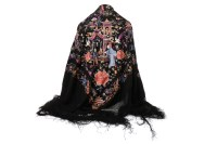 Lot 1144 - 20TH CENTURY CHINESE SILK SHAWL embroidered...