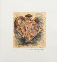 Lot 205-* COLIN WILSON, A MONUMENTAL TEA POT mixed media, ...