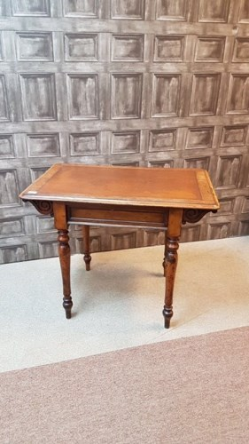 Lot 1601-VICTORIAN MAHOGANY OBLONG WRITING TABLE by B....