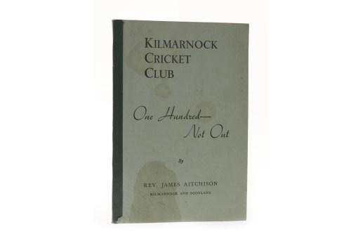 Lot 1610-AITCHISON (REV. J.) - KILMARNOCK CRICKET CLUB One ...