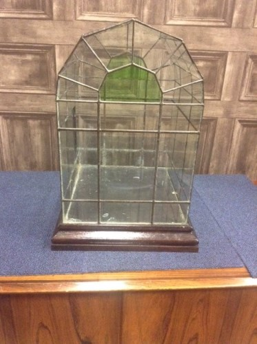 Lot 1615-EARLY 20TH CENTURY CLEAR AND GREEN LEAD GLASS...