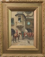 Lot 1622-LEON GIRARDET STREET SCENE WITH SOLDIERS...