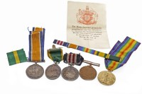 Lot 1625-GROUP OF WWI SERVICE MEDALS AWARDED TO CORPORAL G....
