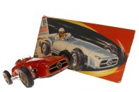 Lot 1626-TIN PLATE TOY MERCEDES BENZ RACE CAR BY JNF OF...