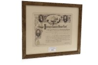 Lot 1646-FRAMED LUNCHEON INVITATION OF THE CENTENARY OF...