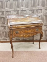 Lot 1649-LATE 19TH CENTURY DUTCH MAHOGANY AND FLORAL...