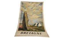 Lot 1652-BRETAGNE LITHOGRAPH BY ABEL (1947) original...