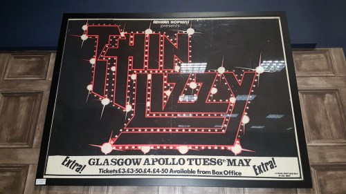 Lot 1732-CONCERT POSTER FOR 'THIN LIZZY' AT THE GLASGOW...