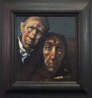 Lot 9-* JOE O'BRIEN, SELFIE oil on canvas board, signed ...
