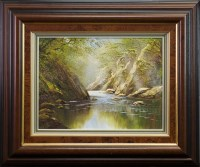 Lot 13-* TERRY EVANS, CROFT WINGATES oil on canvas 30cm...