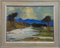 Lot 15-* JOHN COOK (SCOTTISH 20TH CENTURY), THE RIVER...