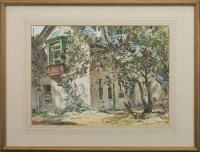 Lot 27-* ALEX MACPHERSON, MAGNOLA TREE watercolour on...