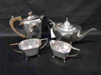 Lot 2-LOT OF SILVER PLATED ITEMS including six piece...