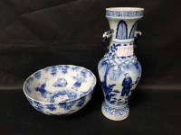 Lot 18-20TH CENTURY CHINESE BLUE AND WHITE VASE and a...