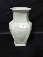 Lot 20-CHINESE HEXAGONAL CELADON VASE