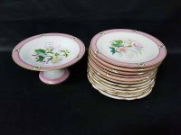 Lot 23-HAND PAINTED DESSERT SERVICE