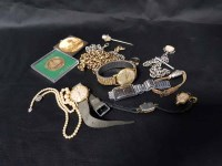 Lot 26-LOT OF JEWELLERY AND WATCHES including silver...