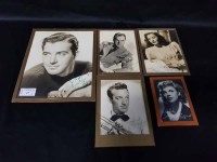 Lot 27-SMALL LOT OF AUTOGRAPHED PHOTOGRAPHS including a...