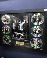 Lot 36-LEGENDS OF MUSIC PRESENTATION FRAME along with a...