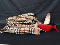 Lot 38-TUNIC AND KILT LABELLED 'BURBERRY' along with a...