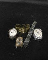 Lot 49-GROUP OF VARIOUS WATCHES including a silver open...