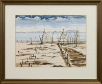 Lot 26-* IAN MELVILLE, OLD SALMON NETS, SOLWAY FIRTH...
