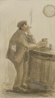 Lot 47-* HARRY KEIR (SCOTTISH 1902 - 1977), HAPPY HOUR...