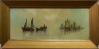 Lot 63-J F CRAIG, THE CALM WATERS oil on canvas, signed...